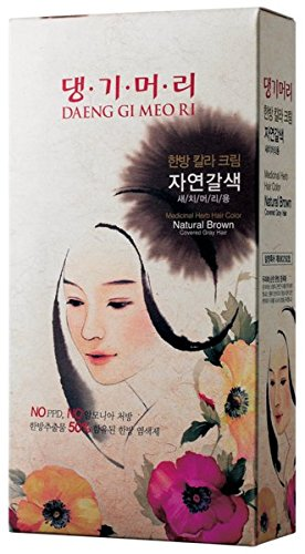Daeng Gi Meo Ri Medicinal Herb Hair Color to cover gray hair (Natural Brown)