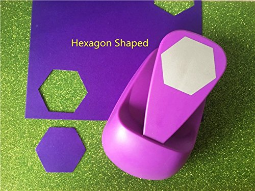 (big hexagon shaped save power paper/eva craft punch Scrapbook Handmade punchers DIY hole punches graph puncher by Sopeace)