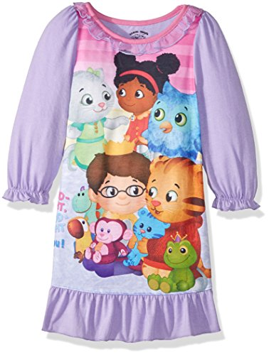 Daniel Tiger Toddler Girls' Daniel Jersey Nightgown, Purple, 3T (Tiger Toddler)