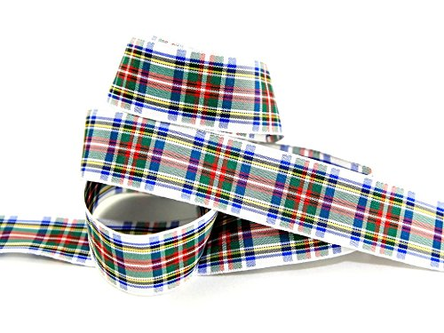 70mm Berisford Woven Tartan Ribbon 1 Dress Stewart - per metre