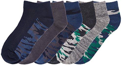 Price comparison product image Joe Fresh Big Boys Camo Sport Low Cut Socks 6-Pack, 11-2
