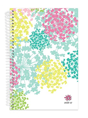 "Bloom Daily Planners 2016-17 Academic Year Daily Planner Passion Goal Organizer Fashion Agenda Weekly Diary Monthly Datebook Calendar August 2016 - July 2017  6"" x 8.25"" - Bloom Flowers"