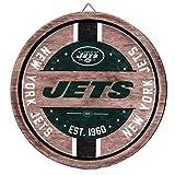 New York Jets NFL Wooden Barrel Sign