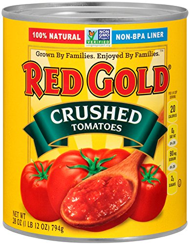 Red Gold Crushed Tomatoes, 28 Ounce (Pack of 12) (All Gold Tomato Sauce)