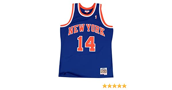 b2ad6f13f41 Amazon.com   Anthony Mason New York Knicks Mitchell   Ness NBA Swingman HWC  Jersey - Blue   Clothing