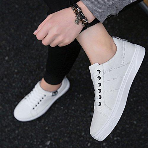 Red YaNanHome da scarpe 41 Size Bianca Color uomo Nuove in da coreano tela di scarpe uomo da stile basse Scarpe tendenza stile uomo Espadrillas scarpe selvatici fwCxqrfB