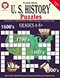 img - for U.S. History Puzzles, Grades 4 - 8 book / textbook / text book