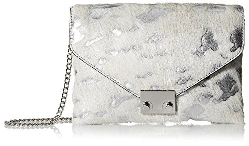 Jr Signature Randall Silver Cream Clutch Loeffler Women's Lock 1qRzzOn