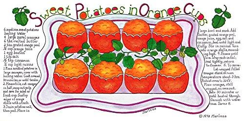 Sweet Potatoes in Orange Cups by Marlene Siff Art Print, 16 x 8 inches