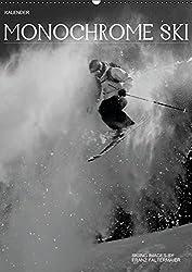 Monochrome Ski (Wandkalender 2015 DIN A2 hoch): Verschiedene Skimotive von meinen Reisen. Different b/w images of my skiing ventures (Monatskalender, 14 Seiten)