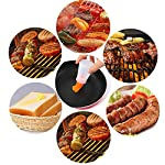Pankia Go Food Grade Silicone Basting Brush BBQ Oil Bottle Kit Barbecue, Frying, Salad, Baking Collapsible Funnel Cleaning Brush, Set of 8 11 【Great Cooking Kit】The package including 3pcs silicone oil bottle, 3pcs silicone brushes, 1pcs collapsible funnel, 1pcs cleaning brush. Intimate kitchen sets are suitable for various cooking needs. 【Safety and Health】100% food grade silicone material, BAP free, FDA approved and eco-friendly. 【Multifunctional Kitchen Tools】Easy to use and clean, easy to bast on a variety of liquid sauce, marinade with oil, butter, sauces, jam,water for cooking. It is suitable for baking cakes, brush jams, brush honey water, barbecue, steak brush oil and so on.