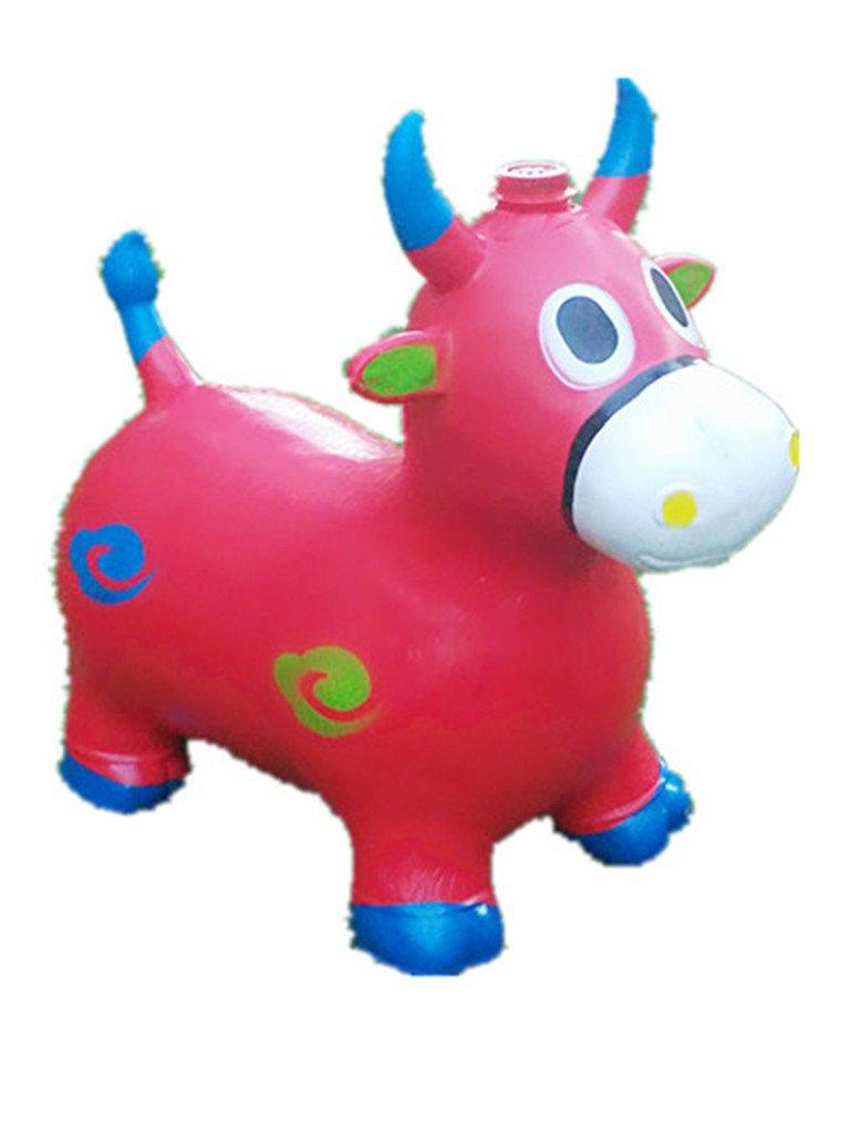 Rojo caballo de saltos para niños, L & H de muñeca hinchable ...