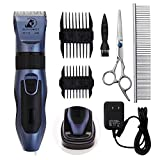 Image of Dog Grooming Clippers - Cordless Quiet Pet Hair Clippers Trimmer Rechargeable with Stainless Steel Blades Dog Comb Shears Best Professional Hair Clipper Set for Dogs Cats Pets Long Short Hair …