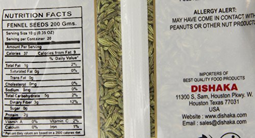 India Chef Fennel Seed, 7 Ounce