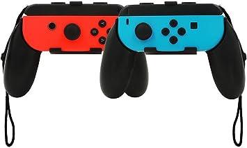Gamepad para Nintendo Switch,niceEshop(TM) 2Pcs Mango de Agarre Compatibles con los Joy-Cons de la Nintendo Switch (Negro): Amazon.es: Electrónica