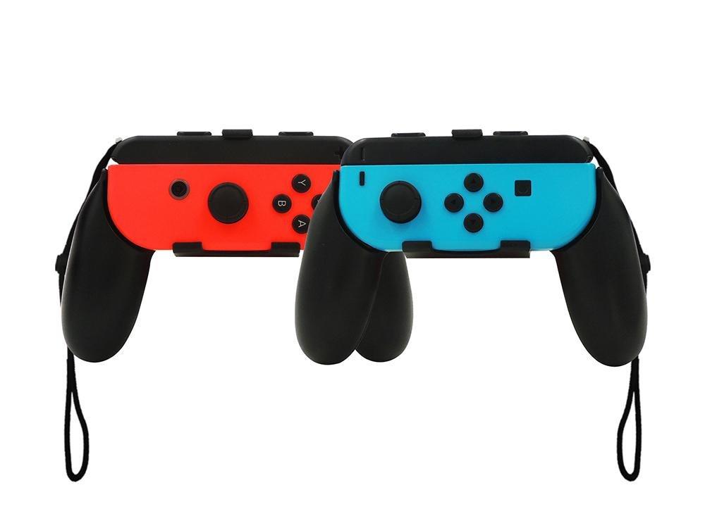 Nintendo Switch Joy-Con Grip, niceEshop(TM) Pack of 2 Wear Resistant Joy-con Handle for Nintendo Switch, Black product image