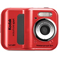 EasyShare Sport C135 14 MP Waterproof Digital Camera with 2.4-Inch LCD (Red) (New Model)