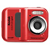 kodak waterproof digital camera - EasyShare Sport C135 14 MP Waterproof Digital Camera with 2.4-Inch LCD (Red) (New Model)