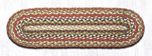 "8.25"" x 27"" Oval Braided Carpet Stair Treads (Set of 13) (Honey/Vanilla/Ginger)"