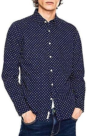 Pepe Jeans Camisa Halberton Azul Hombre: Amazon.es: Ropa y ...