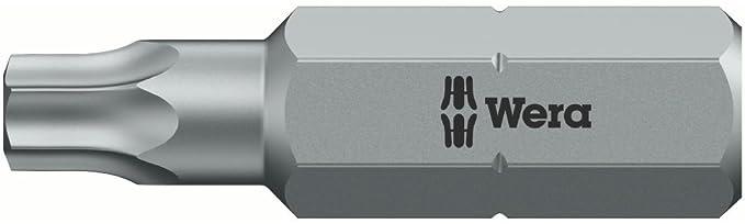 Wera 05134723001 Bits for IPR Socket Screws 867//4 30 IPRx89mm Silver