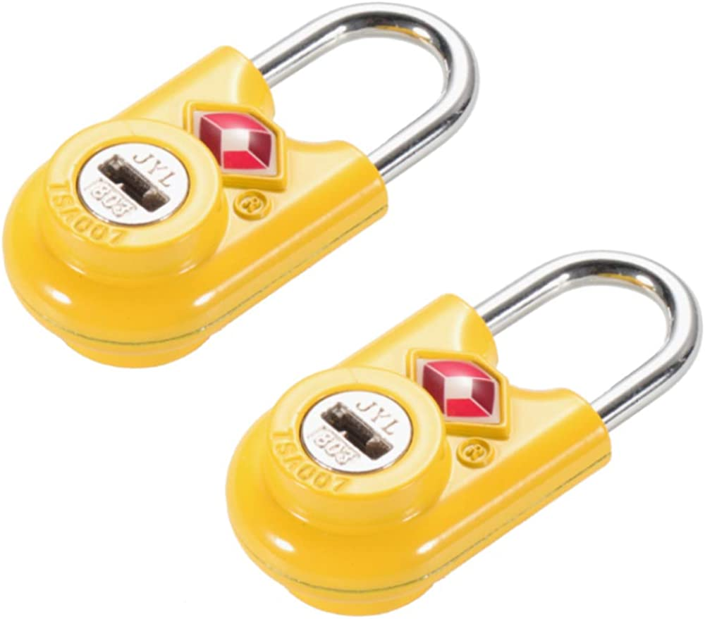 | TSA Compatible Travel Luggage Locks, Alloy body with Steel Shackle, Keyed Lock (YELLOW 2 PACK) … | Luggage Locks