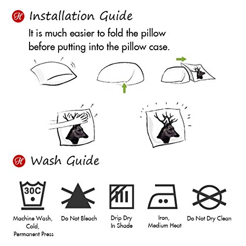 Hofdeco Decorative Throw Pillow Cover INDOOR OUTDOOR WATER RESISTANT Canvas Modern Black Dots 18''x18'' by Hofdeco (Image #5)