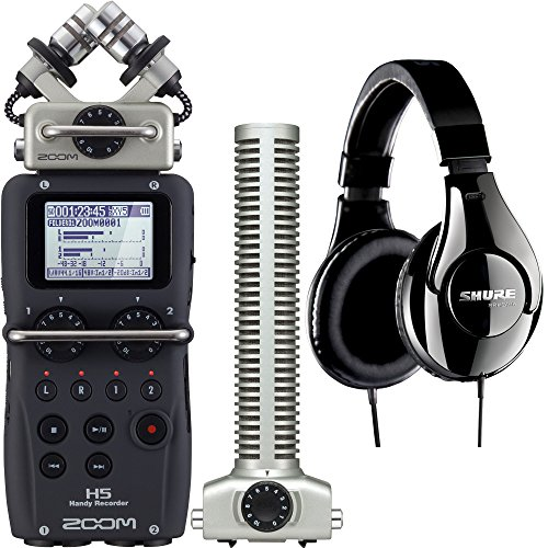 H5 Handy Portable Recorder with SGH-6 Compatible/Replacement Shotgun Capsule and Shure SRH240A - Recorder Replacement