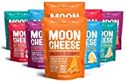 Moon Cheese, 10 Pack, Assortment (Cheddar, Gouda, Pepper Jack, Bacon Cheddar, Garlic Parmesan), 100% Cheese and Gluten Free,