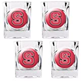 NCAA North Carolina State Wolfpack Square Shot Glass Set (4-Piece)