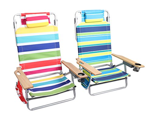 ALPHA CAMP Folding Beach Chairs with Storage Pouch & Towel