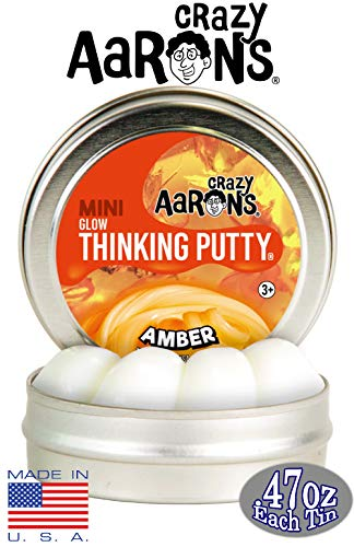 Crazy Aaron's Thinking Putty Mini Tin Gift Set Bundle (Sample Set 3) with Super Fly, Neon Flash, Super Lava, Amber, Love Air & Exclusive Scorpion Skin Glow in The Dark - 6 Pack by Crazy Aaron's (Image #6)