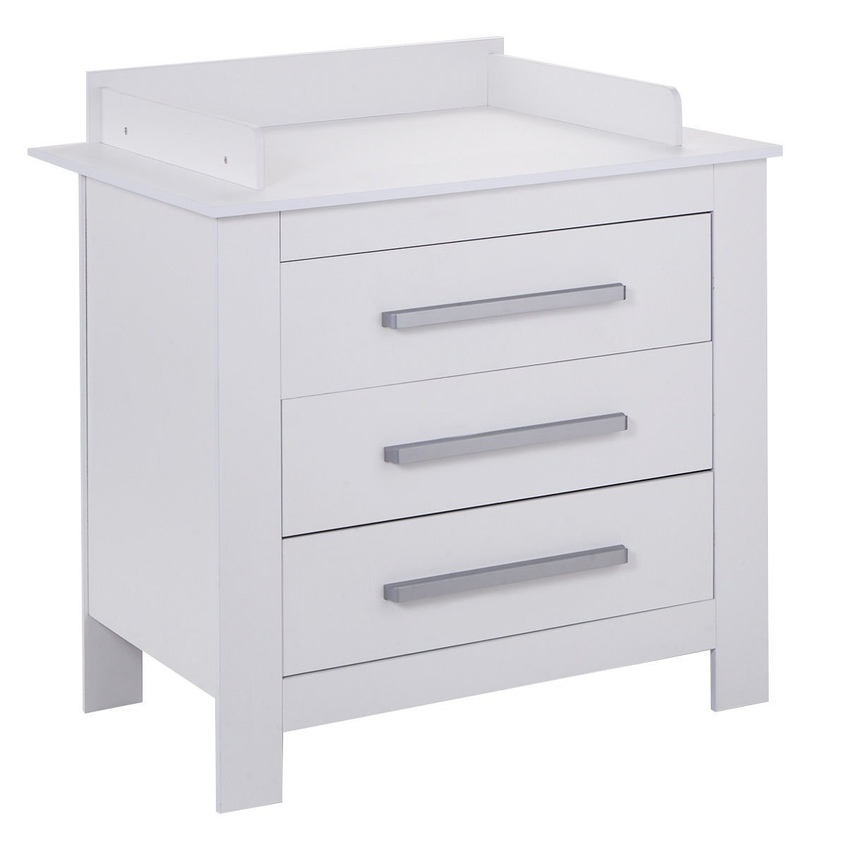 Costzon White Changing Table Dresser Baby Room Nursery Furniture Diaper Station 3 Drawer