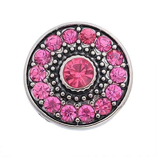 Sunne Rhinestone Flower Interchangeable Jewelry Snap Accessory (Cool Teenage Girl Homemade Halloween Costumes)