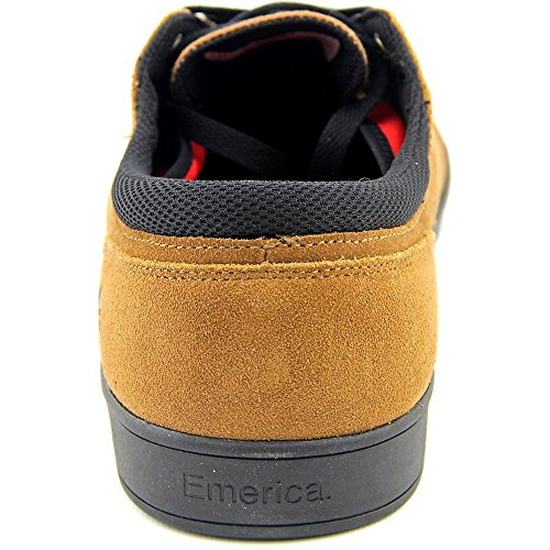 Emerica Men's The Reynolds Low Vulc Gum Skateboarding Shoes, White brown/white/gum