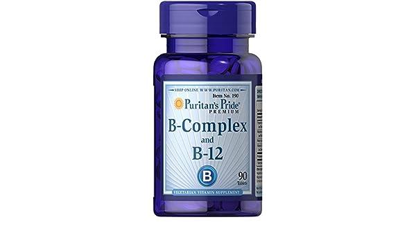 Vitamina B Complex y B 12 90 comprimidos. B12. 1 und.: Amazon.es: Salud y cuidado personal