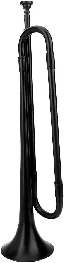Trompette de cavalerie Noire avec Instrument de Musique /écologique Favorable /à lembouchure pour la Bande d/étudiants d/école denfants Bugle B