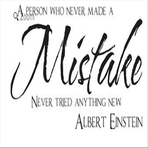 Dailinming PVC Wall Stickers wall art sticker a person who never made a mistake vinyl decal bedroom decor sticker quote 38X76CM