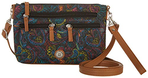 Stone Size Sketchy One Mountain Black multi Paisley Handbag Quilted rYrqw7
