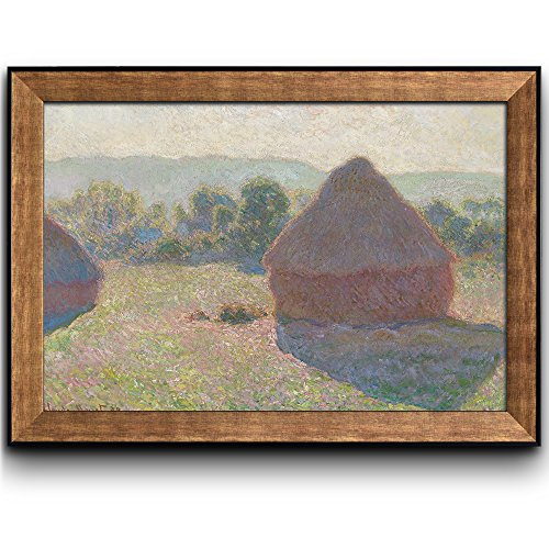 Meules Milieu Du Jour (Haystacks Midday) by Claude Monet Framed Art