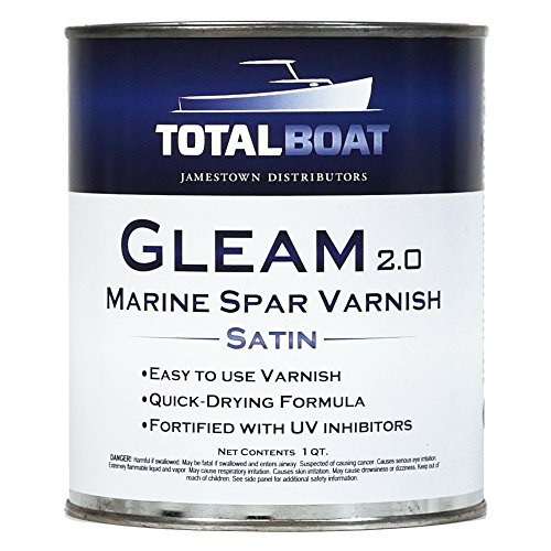 TotalBoat Gleam Marine Spar Varnish (Satin Low-Sheen - Varnish Spar Exterior