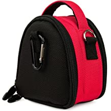 Hot Pink VG Laurel Edition Stylish Nylon Camera Carrying Case Pouch for Canon PowerShot A2300 A2400 IS A3400 IS A4000 IS A2200 A3300 IS A3200 IS Compact Digital Camera