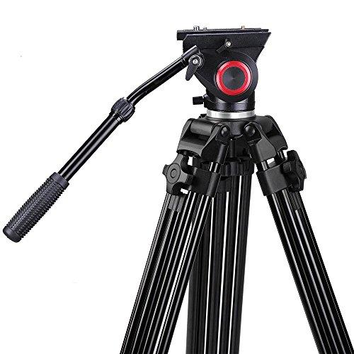 AW 72″ Pro Portable DV Video Camera Tripod Steady Stand Fluid Damping Head Kit w/ Bag 33lbs Capacity