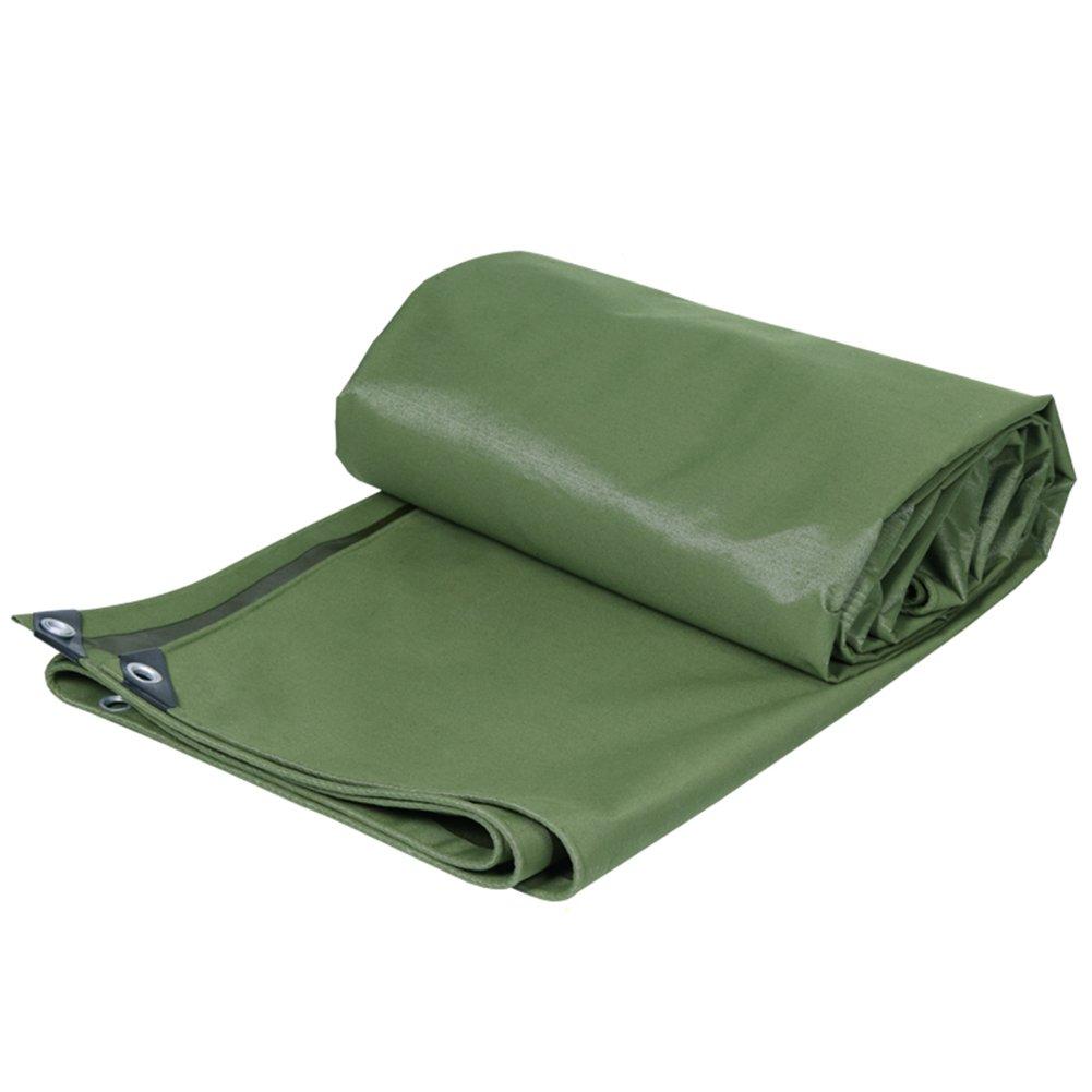 CHAOXIANG オーニング 厚い 折りたたみ可能 キャンバス 防水 耐高温性 耐寒性 耐摩耗性 耐食性 防塵の 防湿 ポリエステルフィラメント 緑、 650g/m 2、 厚さ 0.75mm、 16サイズ (色 : 緑, サイズ さいず : 4×5m) B07DB75X7G 4×5m|緑 緑 4×5m