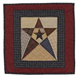 Primitive Star Wall Hanging Quilt 18 Inches by 18 Inches 100% Cotton Handmade Hand Quilted Heirloom Quality