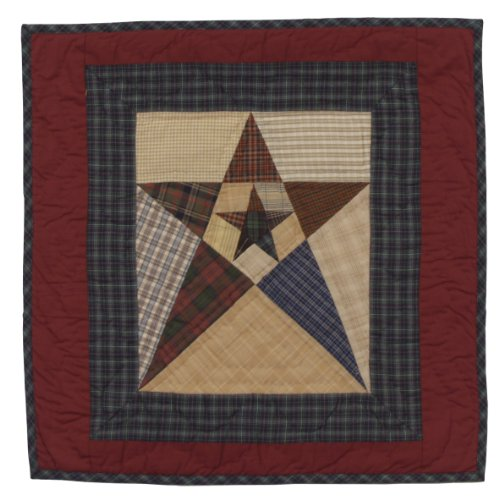 - Primitive Star Wall Hanging Quilt 18 Inches by 18 Inches 100% Cotton Handmade Hand Quilted Heirloom Quality