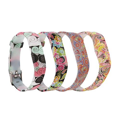 Baaletc Cute Replacement Accessory Band/ Wristband Bracelet Strap for Fitbit Flex 2 Fitness Tracker, One Size (4-Paisley)