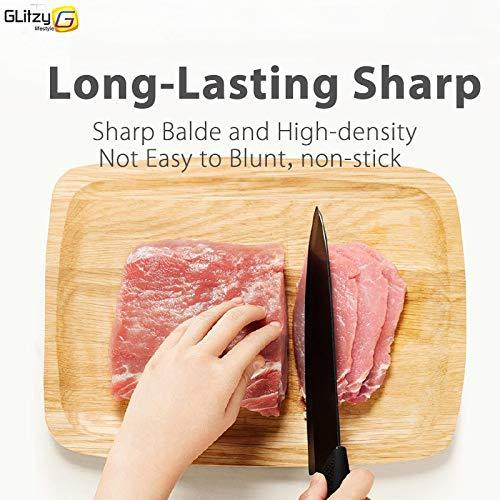 Gano Zen Ceramic Knife 6 5 4 3 Inch Kitchen Chef Knives Zirconia Black Blade Utility Slicing - Paring Fruit Vegetable Meat - Cutter Tool by Gano Zen (Image #5)