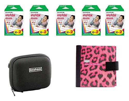 Fujifilm Instax Mini Camera Essentials Kit: Case, Pink Photo Album and Film (100 images) by MPC