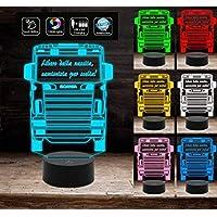 Lampada led 3D camion Scania truck motrice con frase personalizzabile Idea Regalo compleanno luce notturna a led da tavolo o scrivania Decorazione della casa Night Light
